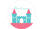 Château Étiquettes arrondies - gabarit prédéfini. <br/>Utilisez notre logiciel Avery Design & Print Online pour personnaliser facilement la conception.
