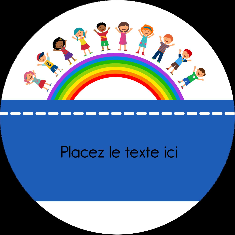 """3"""" x 2¼"""" Étiquettes arrondies - Éducation des enfants"""