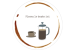 L'heure du café Étiquettes arrondies - gabarit prédéfini. <br/>Utilisez notre logiciel Avery Design & Print Online pour personnaliser facilement la conception.