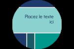 Bloc de couleur Étiquettes arrondies - gabarit prédéfini. <br/>Utilisez notre logiciel Avery Design & Print Online pour personnaliser facilement la conception.