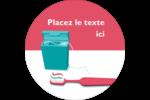 Soie dentaire Étiquettes arrondies - gabarit prédéfini. <br/>Utilisez notre logiciel Avery Design & Print Online pour personnaliser facilement la conception.