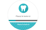 Dent Étiquettes arrondies - gabarit prédéfini. <br/>Utilisez notre logiciel Avery Design & Print Online pour personnaliser facilement la conception.