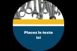 Outils de l'entrepreneur Étiquettes arrondies - gabarit prédéfini. <br/>Utilisez notre logiciel Avery Design & Print Online pour personnaliser facilement la conception.