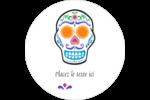 Le jour du Crâne Étiquettes de classement - gabarit prédéfini. <br/>Utilisez notre logiciel Avery Design & Print Online pour personnaliser facilement la conception.