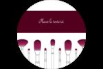 Brosses à cosmétiques Étiquettes arrondies - gabarit prédéfini. <br/>Utilisez notre logiciel Avery Design & Print Online pour personnaliser facilement la conception.