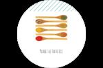 Cuillères Étiquettes arrondies - gabarit prédéfini. <br/>Utilisez notre logiciel Avery Design & Print Online pour personnaliser facilement la conception.