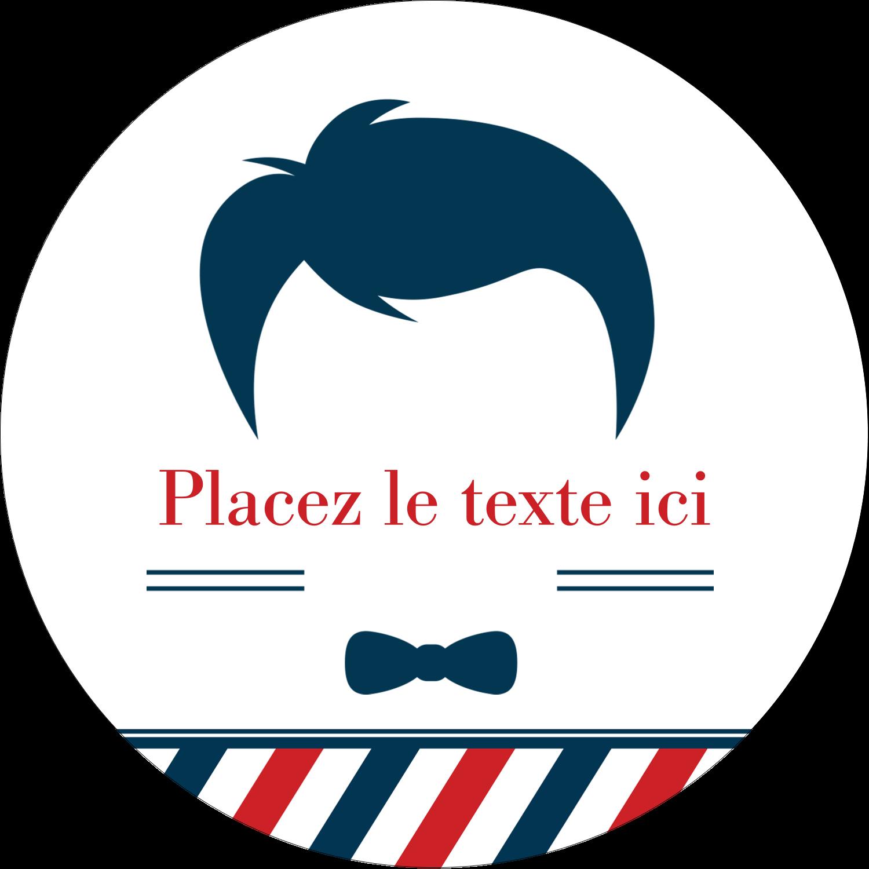 """3-7/16"""" x 15/16"""" Étiquettes de classement - Salon de barbier"""
