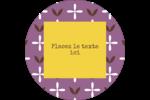 Lavande géométrique Étiquettes de classement - gabarit prédéfini. <br/>Utilisez notre logiciel Avery Design & Print Online pour personnaliser facilement la conception.