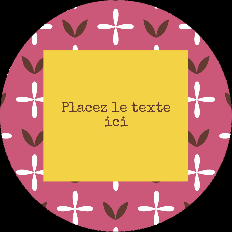 """3-7/16"""" x 15/16"""" Étiquettes de classement - Fleurs roses géométriques"""