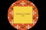 Fleurs orange géométriques Étiquettes de classement - gabarit prédéfini. <br/>Utilisez notre logiciel Avery Design & Print Online pour personnaliser facilement la conception.