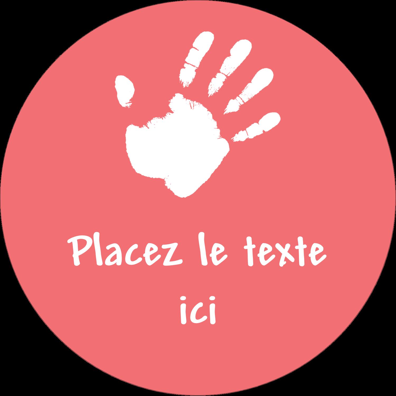 """3-7/16"""" x 15/16"""" Étiquettes de classement - Mains enfantines"""