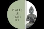 Bouddha Étiquettes de classement - gabarit prédéfini. <br/>Utilisez notre logiciel Avery Design & Print Online pour personnaliser facilement la conception.