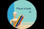 Enseignement des arts Étiquettes de classement - gabarit prédéfini. <br/>Utilisez notre logiciel Avery Design & Print Online pour personnaliser facilement la conception.