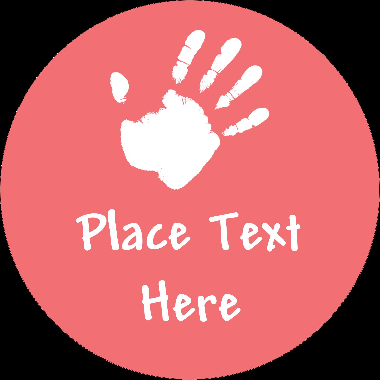 "2½"" Round Label - Childcare Hands"