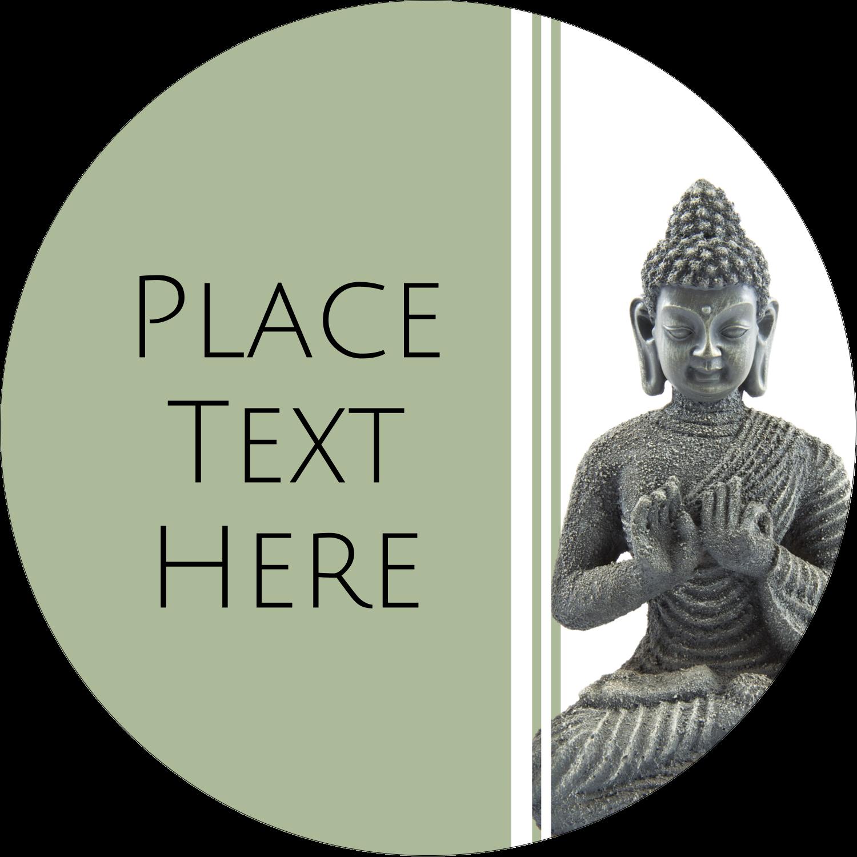 """2½"""" Round Label - Buddha"""