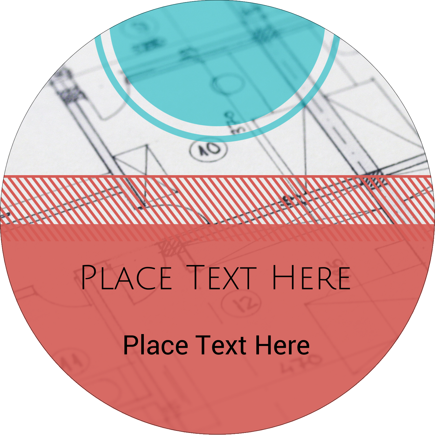"2½"" Round Label - Architecture"