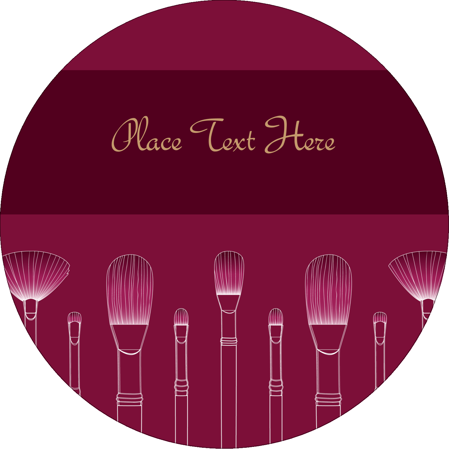 """2½"""" Round Label - Cosmetic Brushes"""