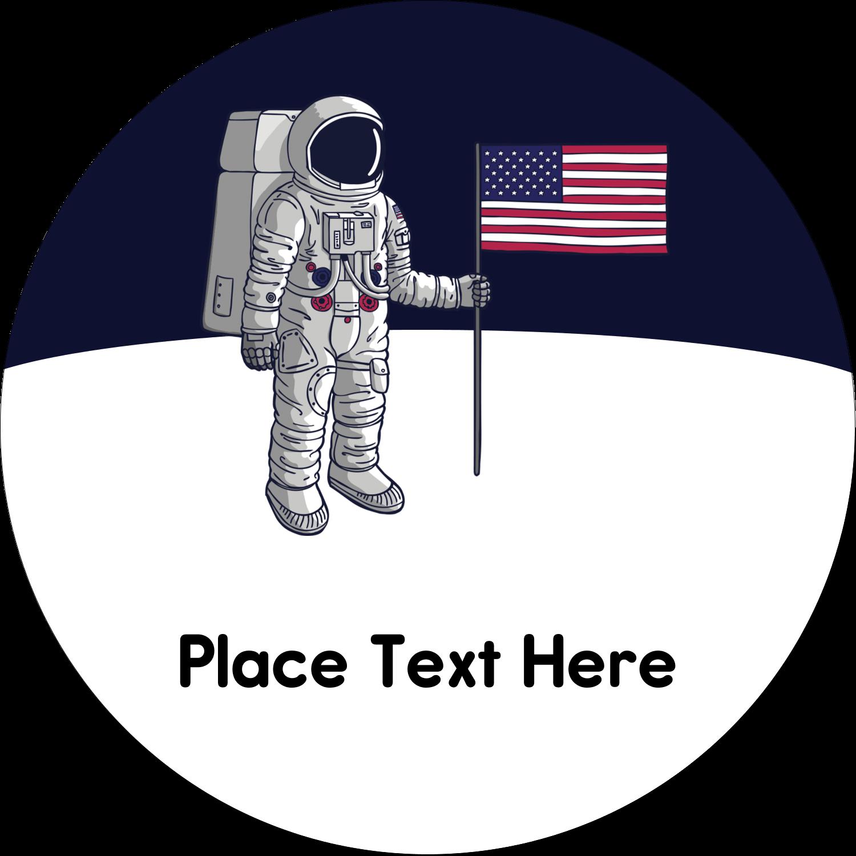"2½"" Round Label - Astronaut"