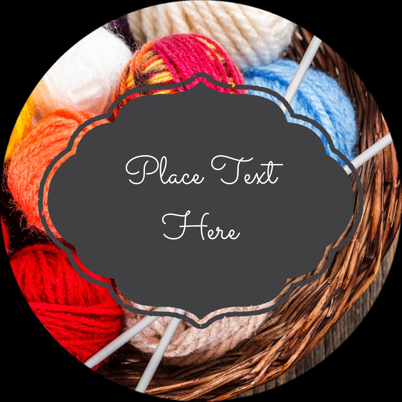 "2½"" Round Label - Knitting Crafts"