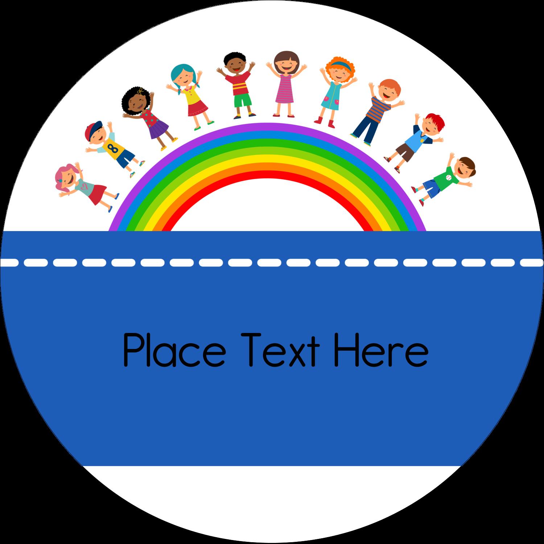 "2½"" Round Label - Childcare Education"