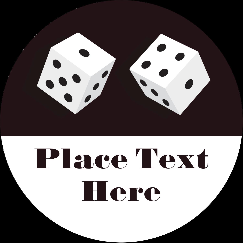 "2½"" Round Label - Poker Game"