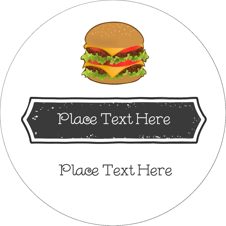 "2½"" Round Label - Burger"