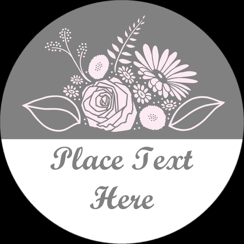 """2½"""" Round Label - Floral Bouquet"""