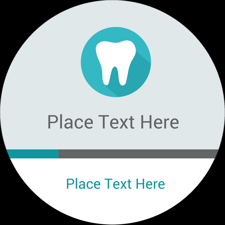 """2"""" Round Label - Dentist Tooth"""