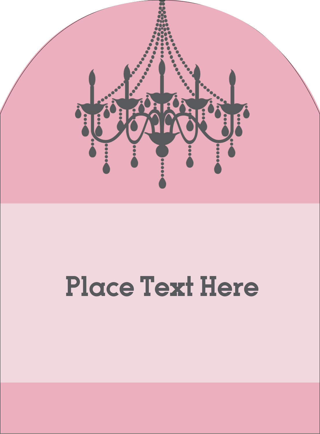 """4¾"""" x 3½"""" Arched Label - Chandelier"""