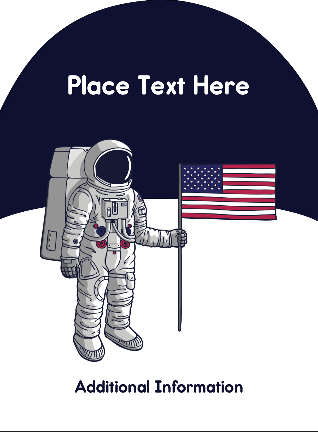 "4¾"" x 3½"" Arched Label - Astronaut"