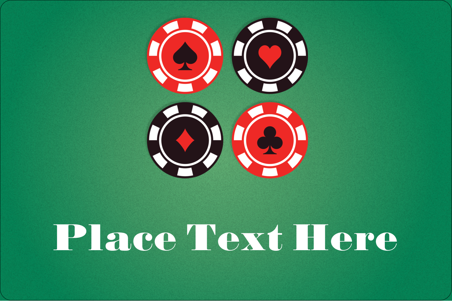 "2"" x 3"" Rectangular Label - Poker Game"