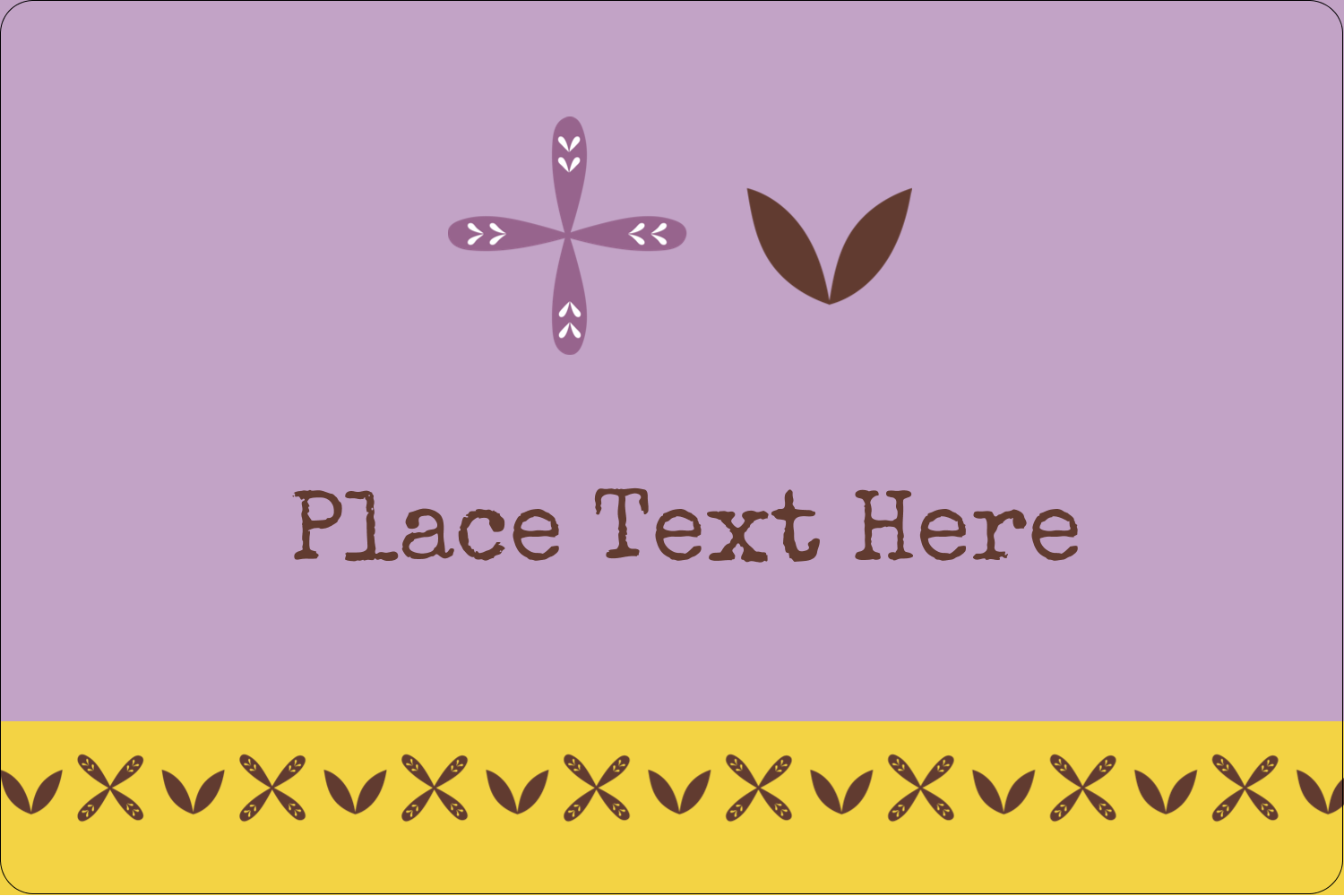 "2"" x 3"" Rectangular Label - Geometric Lavender Blossoms"
