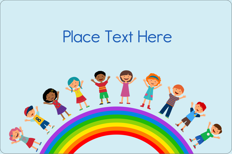 "2"" x 3"" Rectangular Label - Childcare Education"