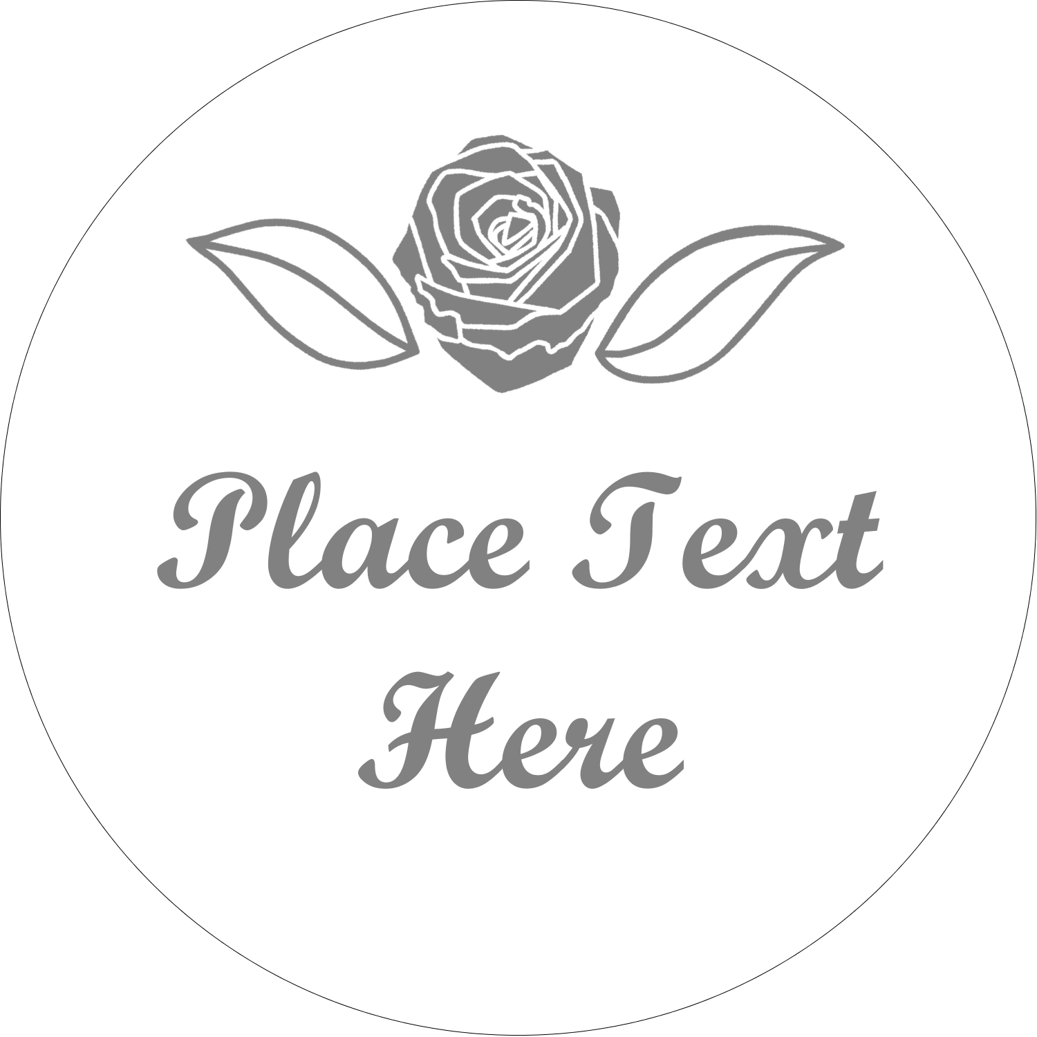 """2"""" Embossed Round Label - Floral Bouquet"""