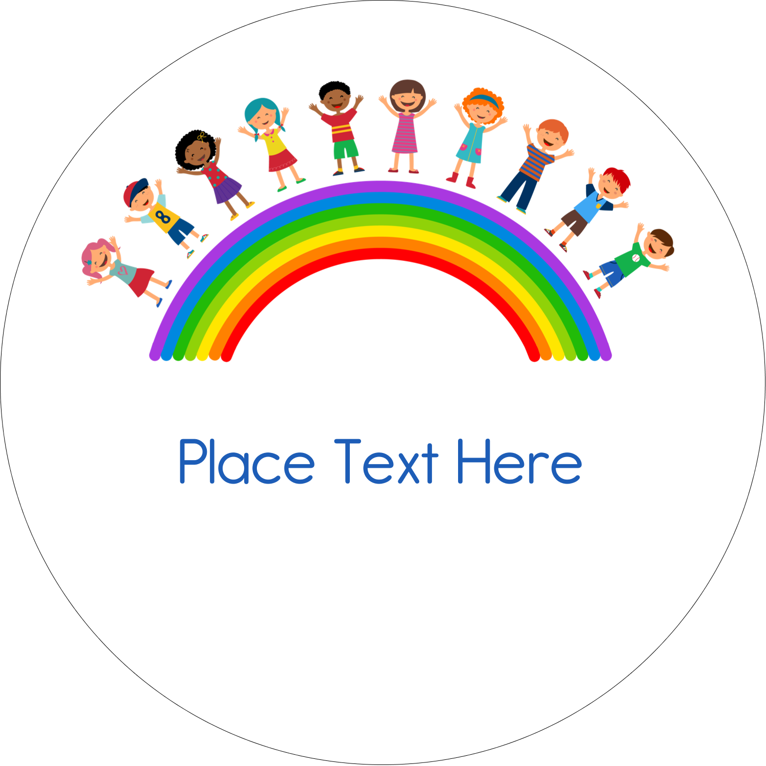 "2"" Embossed Round Label - Childcare Education"