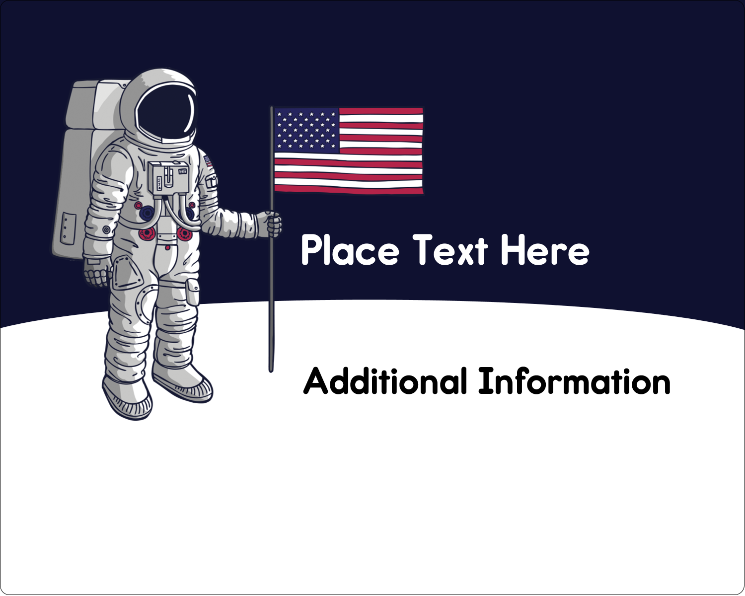 "3"" x 3¾"" Rectangular Label - Astronaut"