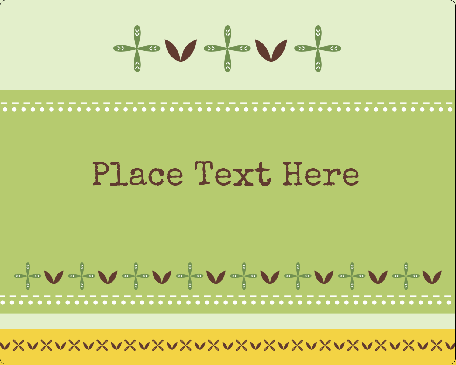 "3"" x 3¾"" Rectangular Label - Geometric Green Blossoms"