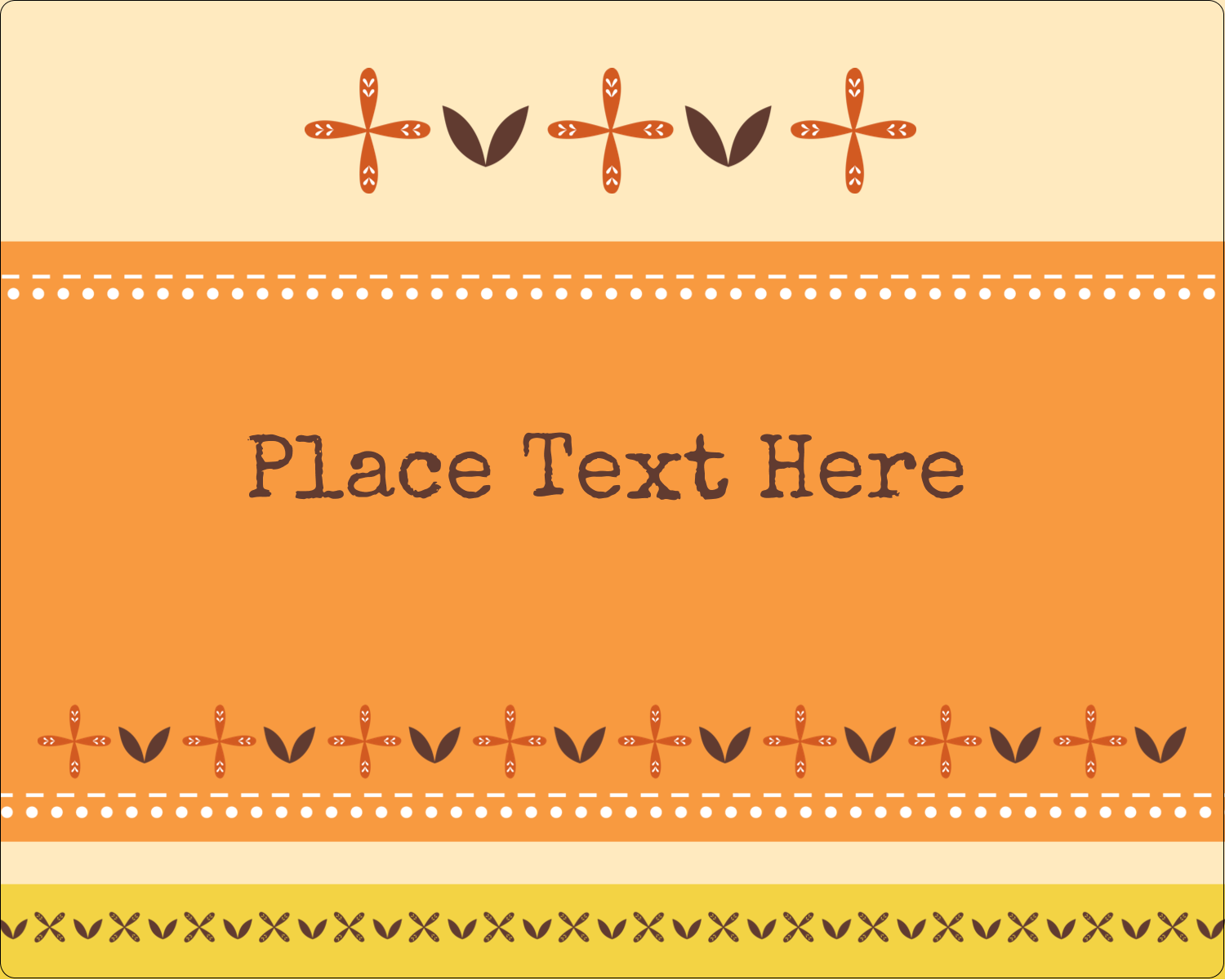 "3"" x 3¾"" Rectangular Label - Geometric Orange Blossoms"