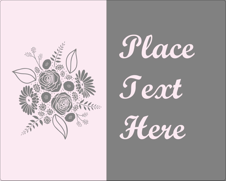 """3"""" x 3¾"""" Rectangular Label - Floral Bouquet"""
