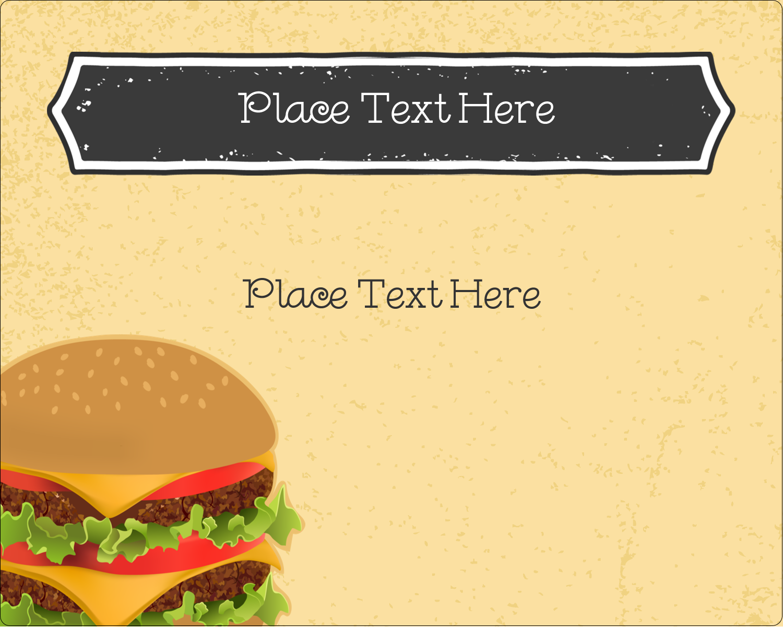 "3"" x 3¾"" Rectangular Label - Burger"