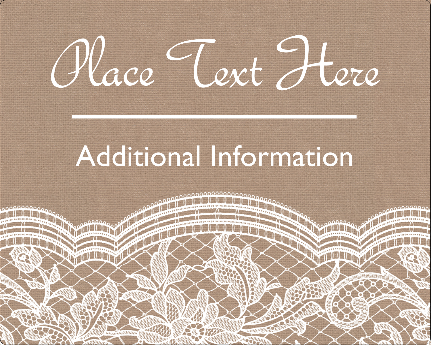 "3"" x 3¾"" Rectangular Label - Burlap Lace"