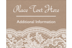 Add a touch of romantic charm to custom projects with pre-designed Burlap Lace templates.