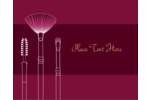 Bring bold beauty to custom projects with pre-designed Cosmetic Brushes templates.