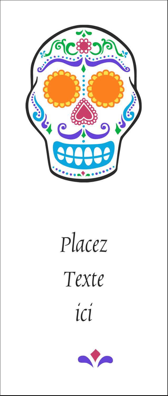 """2"""" x 3½"""" Cartes Pour Le Bureau - Le jour du Crâne"""