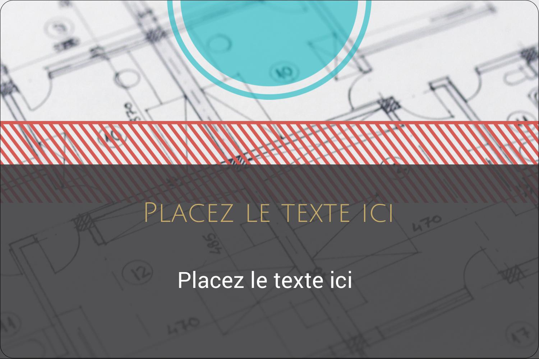 """3"""" x 3¾"""" Étiquettes rectangulaires - Architecture"""