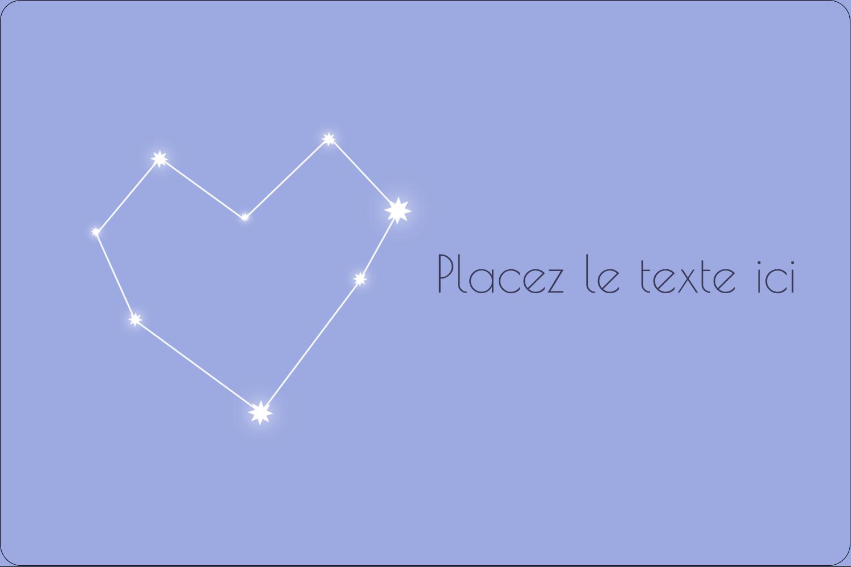 """3"""" x 3¾"""" Étiquettes rectangulaires - Étoiles d'anniversaire"""