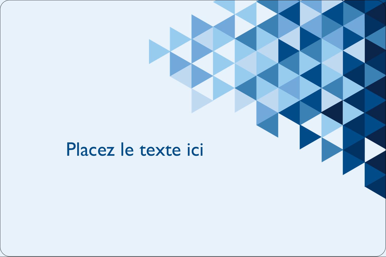 """3"""" x 3¾"""" Étiquettes rectangulaires - Angles bleus"""