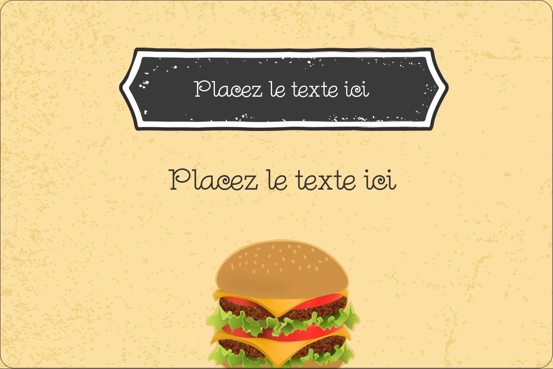 "3"" x 3¾"" Étiquettes rectangulaires - Hamburger"