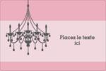 Chandelier Étiquettes rectangulaires - gabarit prédéfini. <br/>Utilisez notre logiciel Avery Design & Print Online pour personnaliser facilement la conception.
