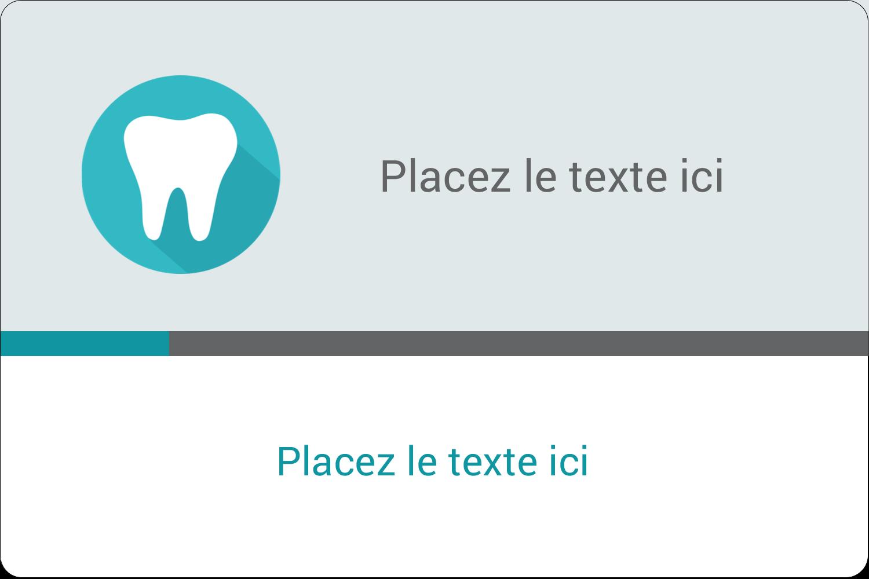 """3"""" x 3¾"""" Étiquettes rectangulaires - Dent"""
